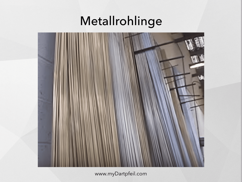 Metallrohlinge für Dartpfeile Herstellung