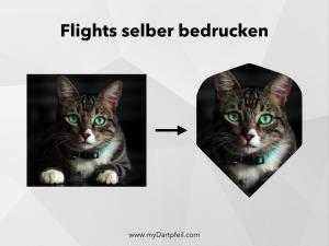 Dart Flight selber designen und bedrucken