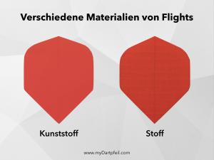 Verschiedene Materialien von Dart Flights