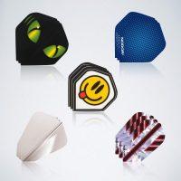 Darts Flight Service Kit mit 5 verschiedenen Flights mit unterschiedlichem Design und Formen