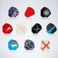 Darts Flight Service Kit mit 10 verschiedenen Flights mit unterschiedlichem Design und Formen