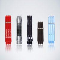 Darts Service Kit 5 Schäfte in rot silber schwarz und blau in verschiedenen Formen und Materialien