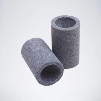 Schleifstein für Steeldart Spitzen in rund und grau