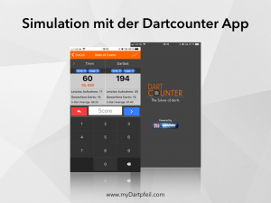 Simulation mit der Dartcounter App