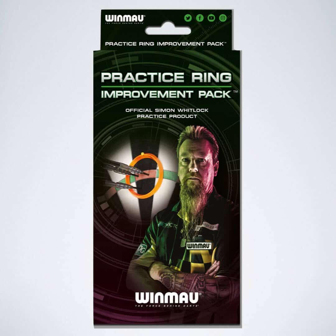 Dart Trainingsringe von Winmau Verpackung mit Simon Whitlock Bild
