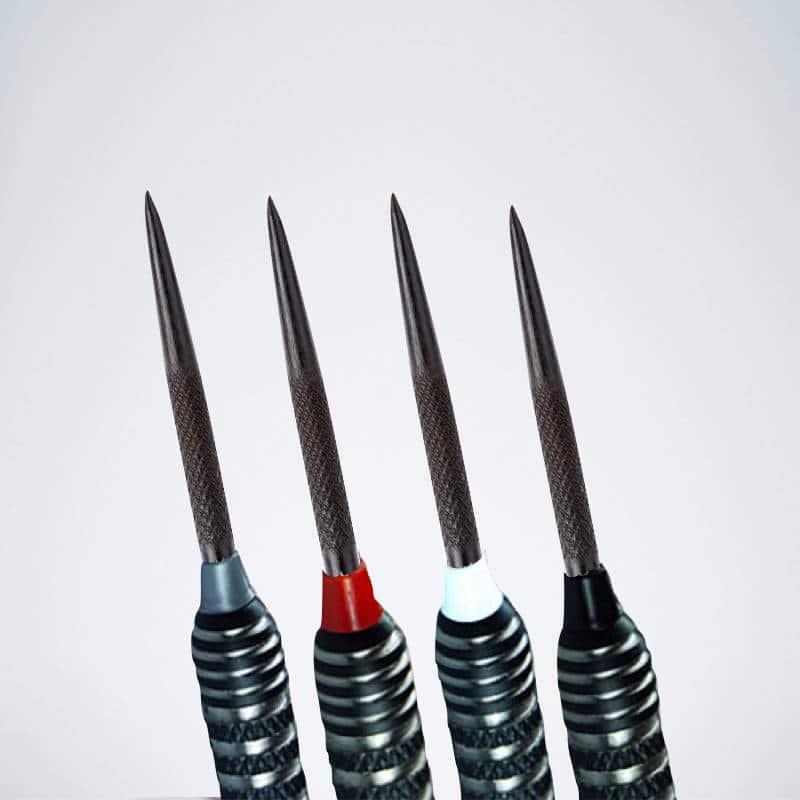 Steeldart Kappen Trident 180 in schwarz, silber, rot und weiß