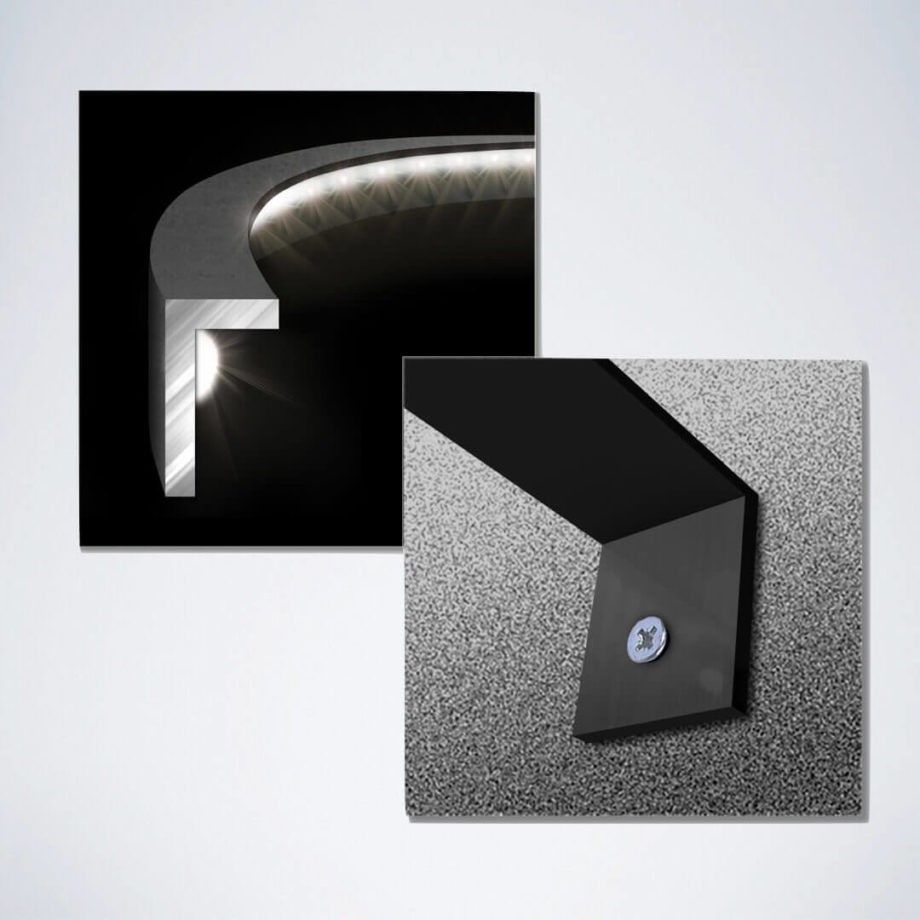 LED Dartboard Beleuchtung aus Aluminium mit 132 LEDs