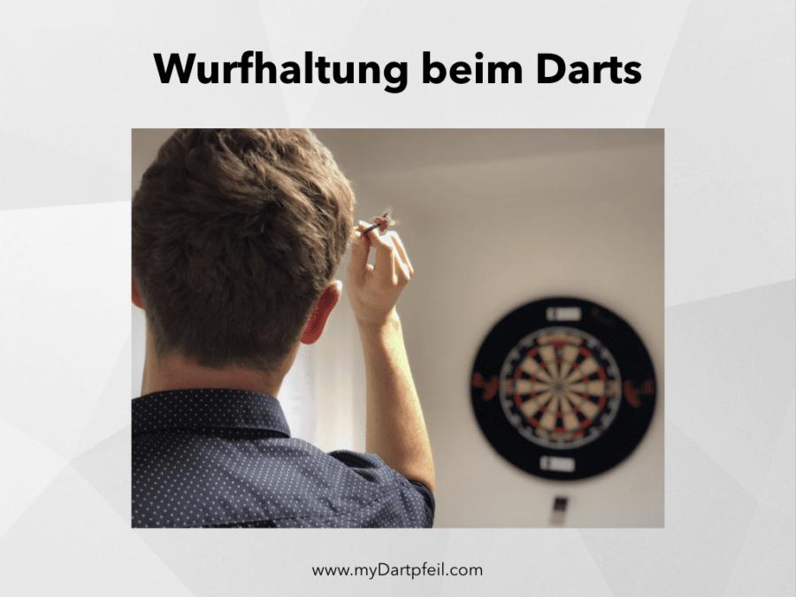 Wurfhaltung beim Darts