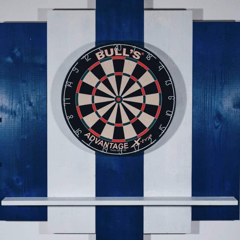 Wooden Dartboard Surround für Dartscheibe aus Holz in Blau und Weiß