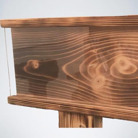 Wooden Dartboard Surround Tablethalter mit Schutzhülle