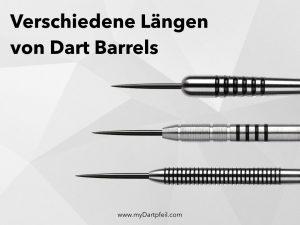 dart barrels verschiedene laengen