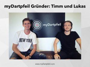 Gründer Timm Bange und Lukas Haas von myDartpfeil in Berlin
