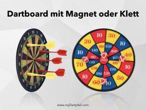 Dartboard mit Magnet oder Klett für Dart für Kinder