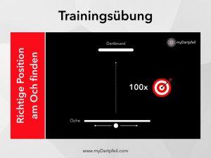 Training Übung für Darts Stand