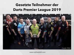 Teilnehmer der Darts Premier League 2019