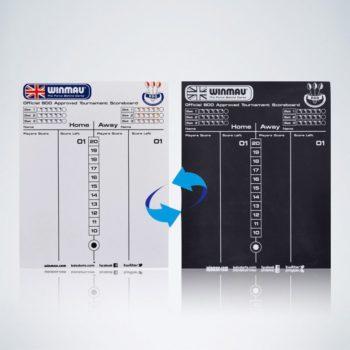 Offizielle Winmau Schreibtafel und Scoreboard für Dartspiele
