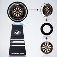 Starter Set Dartsarena mit Dartboard Beleuchtung, Dartscheibe, Dartboard Surround und Dartmatte