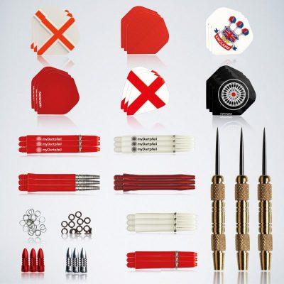 Steeldarts Zubehör Service Kit 45 Teile Barrels, Schäfte, Flights, Ringe, Protektoren und Ringe