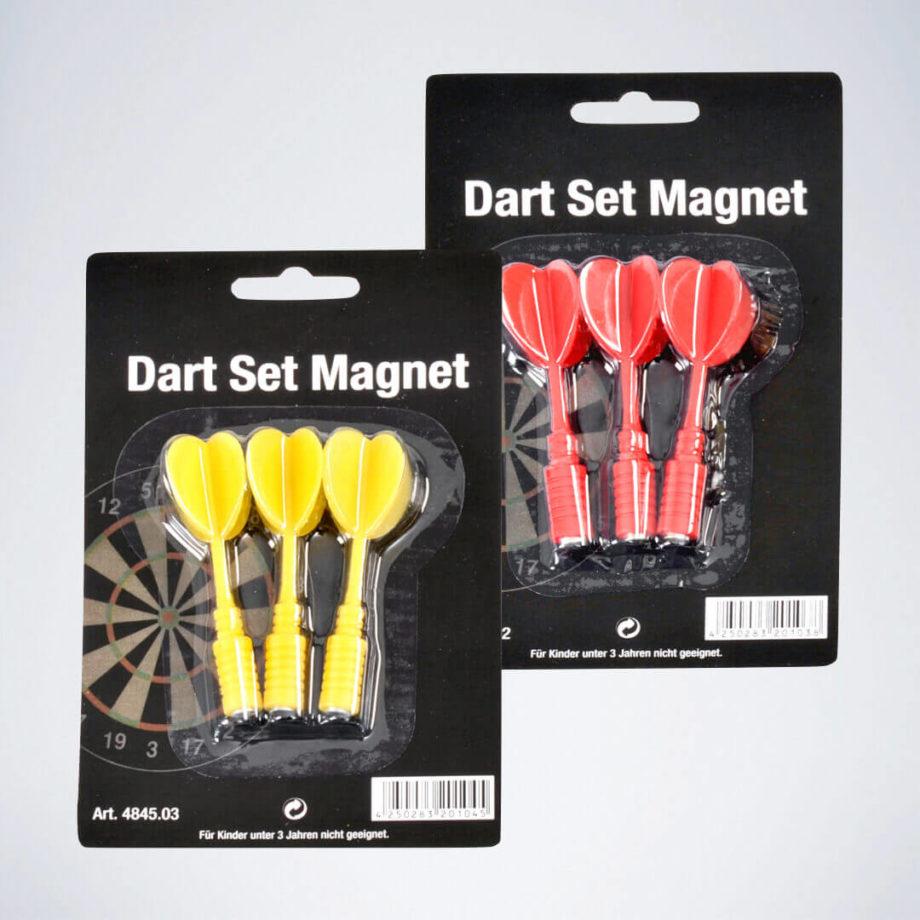 2 Sets Magnet Dartpfeile für Magnet Dartscheibe Kinder in rot und gelb