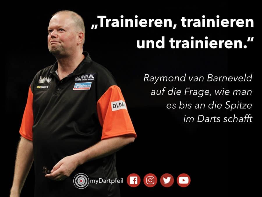 Darts Trainings Tipp von Raymond van Barneveld: Trainieren, Trainieren, Trainieren