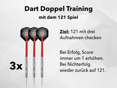 Dart Doppel Training mit dem 121 Darts Game