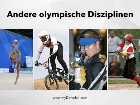 Olympische Disziplinen wie Dartsport