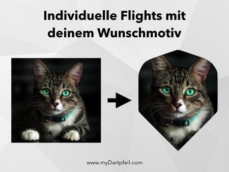 Dart Flights personalisieren mit Wunschmotiv