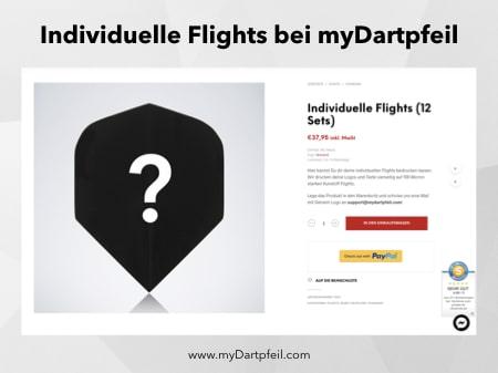 Dart Flights selbst gestalten mit Logo