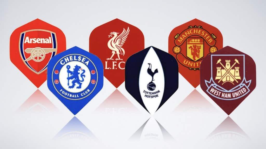 Dart Flights selbst gestalten mit Fußball Logo
