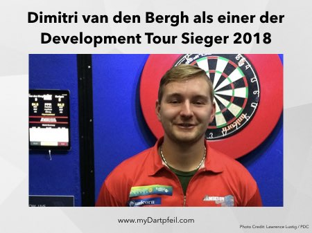 Dimitri van den Bergh als Sieger bei der PDC Development Tour 2018
