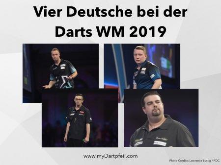 Max Hopp, Martin Schindler, Gabriel Clemens und Robert Marijanovic bei der Darts WM