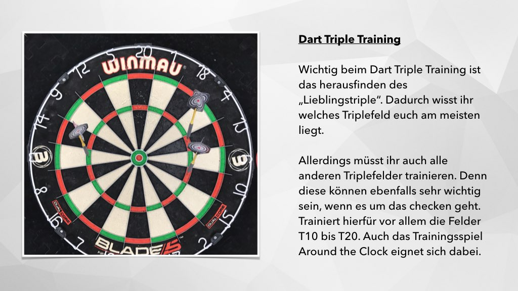 Infografik Dart Triple Training