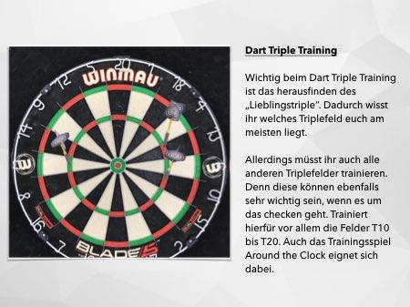 Infografik Dart Triple Training