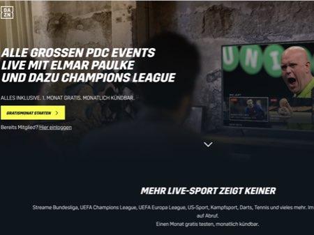 Dazn Website Screenshot