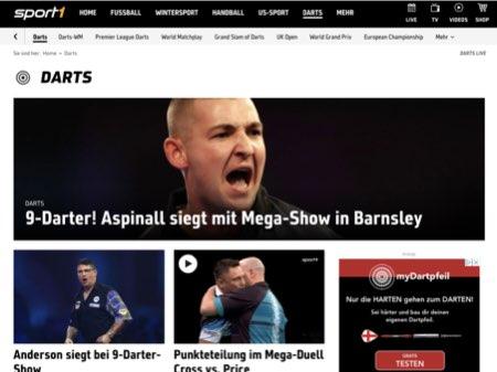 Sport1 Website Screenshot