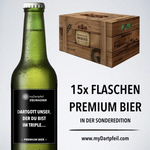 Premium Dart Bier 15er Dartkiste 0,33l