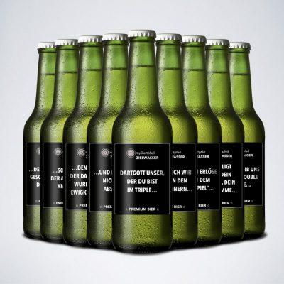 Premium Darts Bier mit Dartgebet