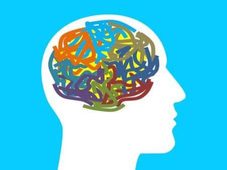 Kopf mit Mentalelement