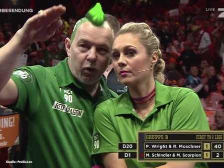 Mixed Doppel Peter Wright und Ruth Moschner