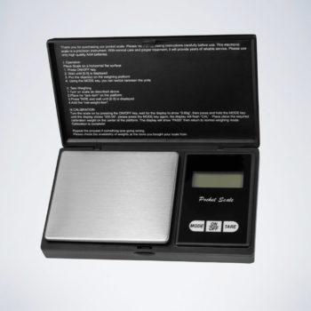 Schwarze aufklappbare Darts Waage zum Dartpfeil wiegen mit digitalem Display