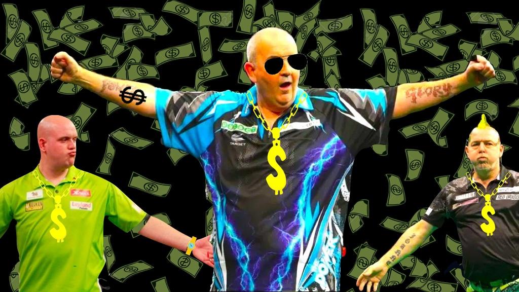 Dartspieler Vermögen von Dartprofis Phil Taylor und co