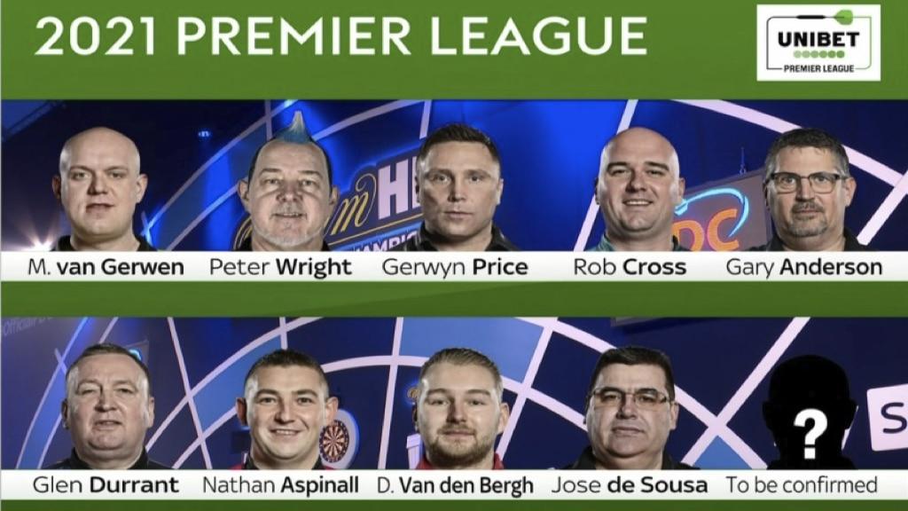 Darts Premier League 2021 Teilnehmer